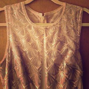 Gold long BCBG formal dress